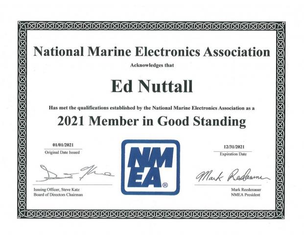 NMEA 2021 Membership