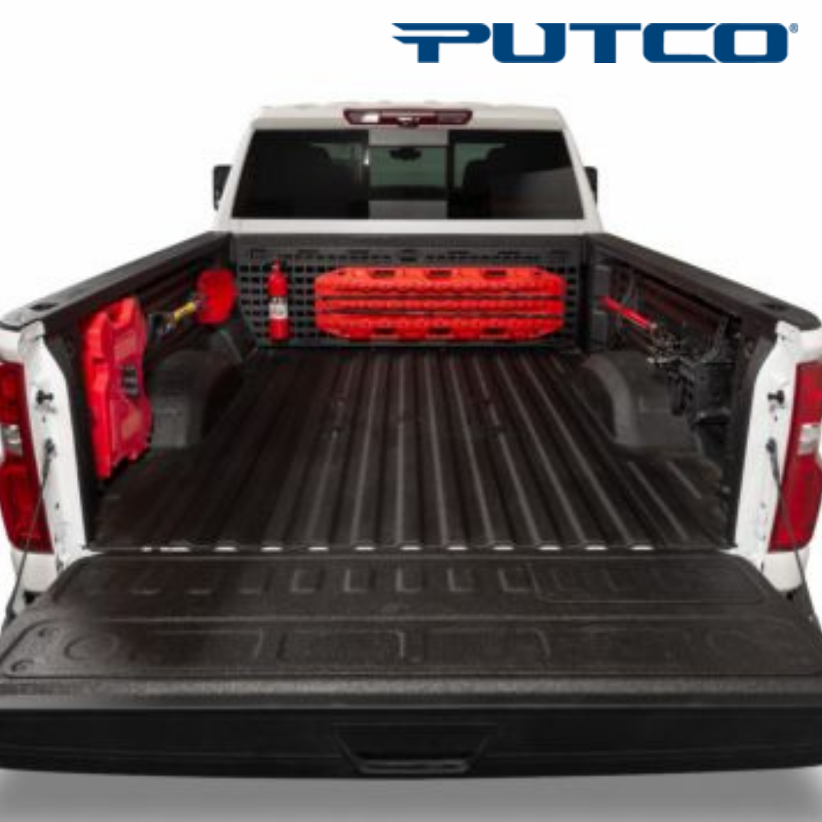 Stay organized for any job and get the proper cargo storage for your truck with Putco Molle Panels. Secure your cargo in the back of your truck bed with this one of a kind truck bed storage organizer system with custom fit designs engineered for every make and model. Compatible with bed covers and spray-in bed liners, Molle Panels holds your gear safely and securely inside the truck bed panel. This amazing cargo storage rack is perfect for latching down nearly anything you want to secure in place including MOLLE bags, trail gear, tools, high lift jacks, axes, shovels and more. It's perfect system for overlanding pickup trucks or work trucks to hang and organize gear, tools and more. Pay us a visit and we'll help you not only secure your cargo but keep it organized with this Putco product.